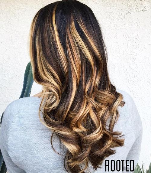 Blonde and copper highlights on dark brown hair trendy blonde and copper highlights on dark brown hair pmusecretfo Choice Image