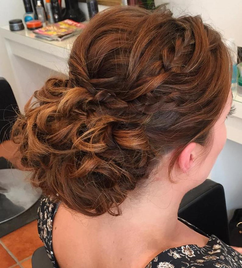curly prom hairstyle for long hair
