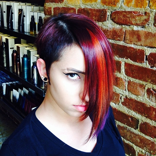 funky asymmetrical haircut