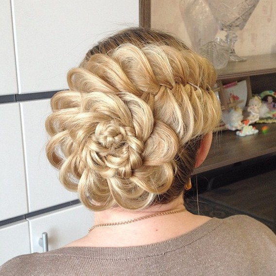 Braided Flower Updo