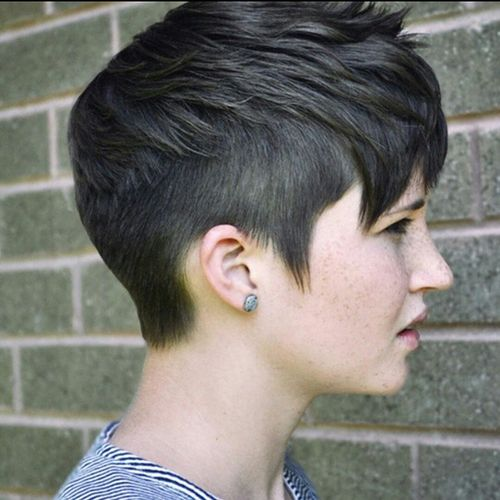 spiky pixie hairstyle