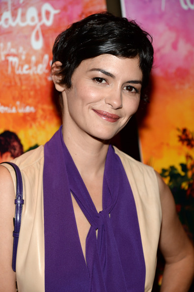 Audrey Tautou short curly hairstyle