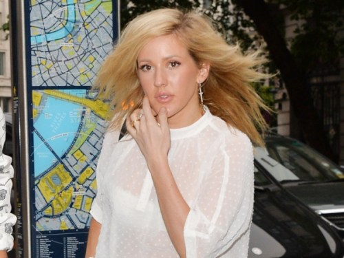 Ellie Goulding medium shag haircut
