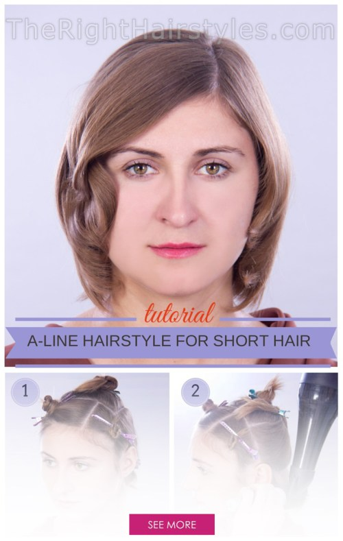 A-Line Hairstyle With Face-Framing Locks for Short Thin Hair