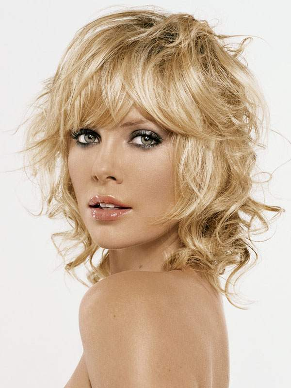 Angel curls on a short hairstyle