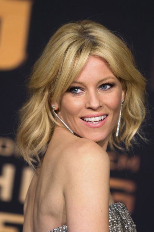 Elizabeth Banks medium shag haircut