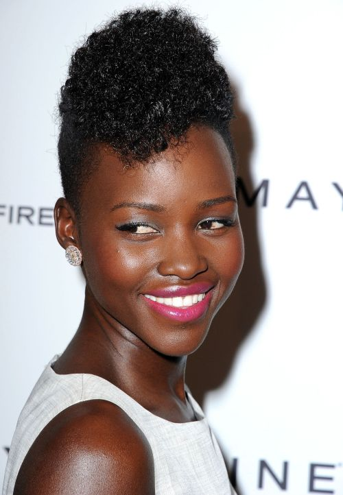 Lupita Nyong'o Mohawk for natural hair