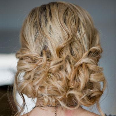prom blond updo