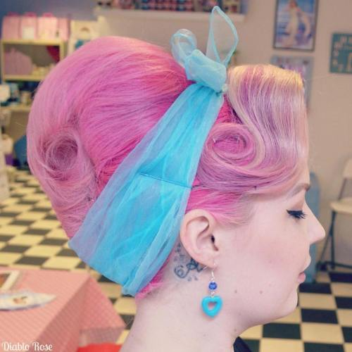 Pastel Pink Vintage Updo