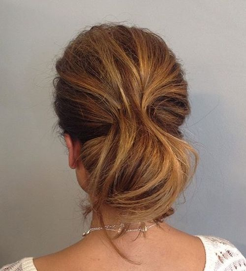 tousled chignon updo