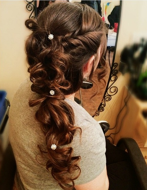 loopy curly braid for long hair