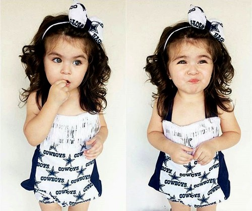 simple curly baby girl hairstyle