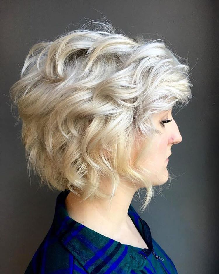 Curly Blonde Bob