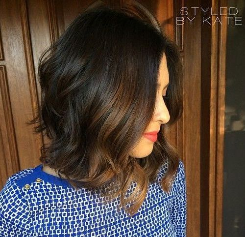 Long a Line Bob for Curly Hair