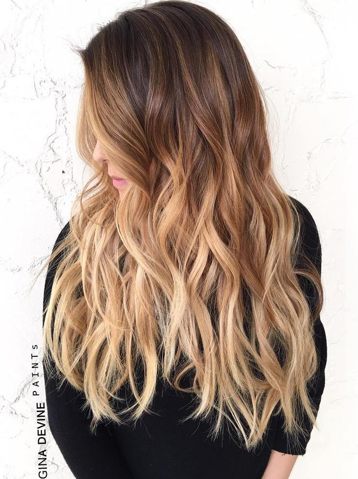 The 50 sizzling ombre hair color solutions for blond brown red and black hair - Ombre braun blond ...