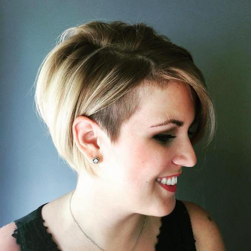 short bob with side undercut