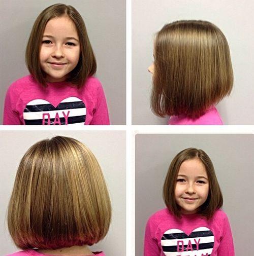 cute collar-bone bob haircut for girls