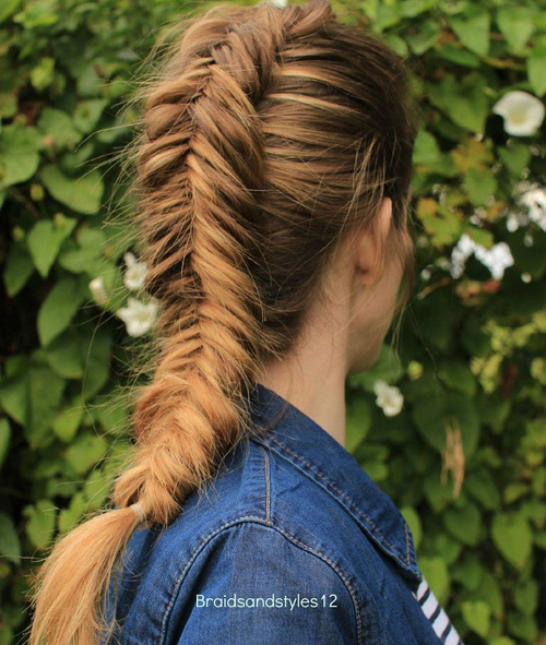 chunky dutch fishtail braid