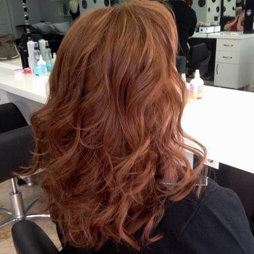 medium copper hairstyle