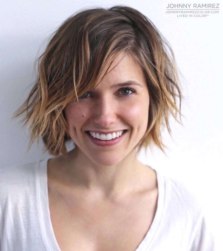 Side-Parted Messy Bob