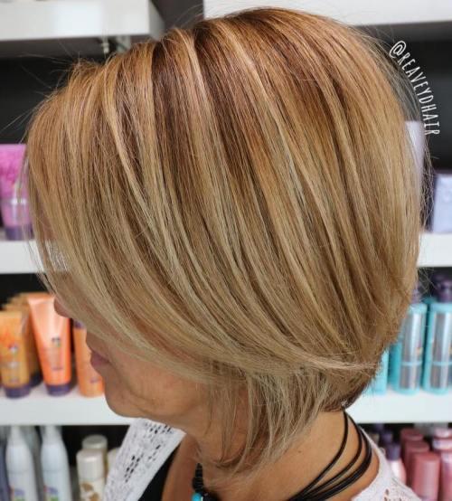 50+ Caramel Blonde Bob