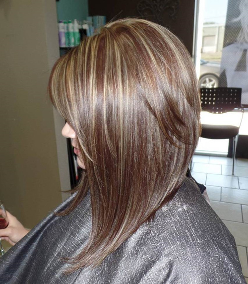 Long Layered Bob With Highlights