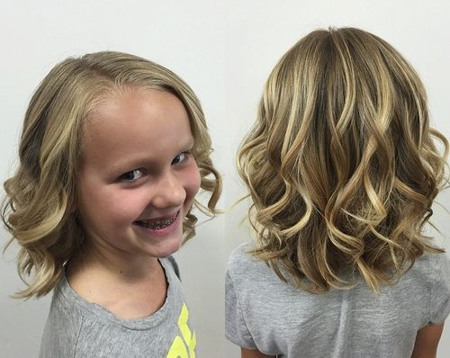 curly bob girls' hairstyle