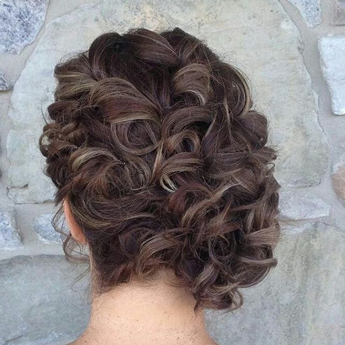 curly side prom updo