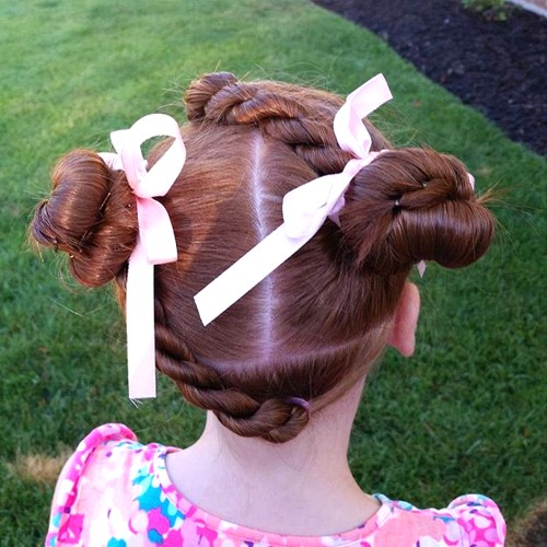 little girls' twists and knots hairstyle