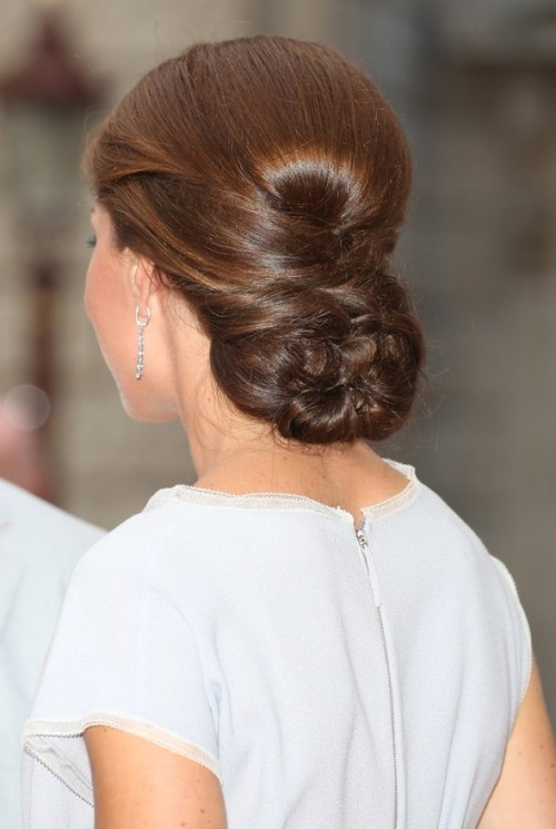 Kate Middleton updo with a dutch braid