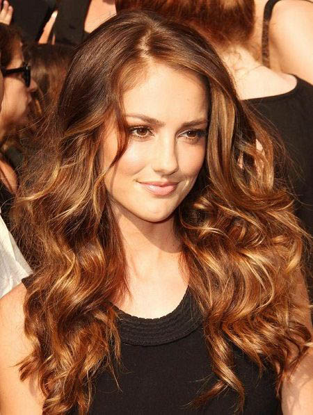 subtle highlights with light brown hair