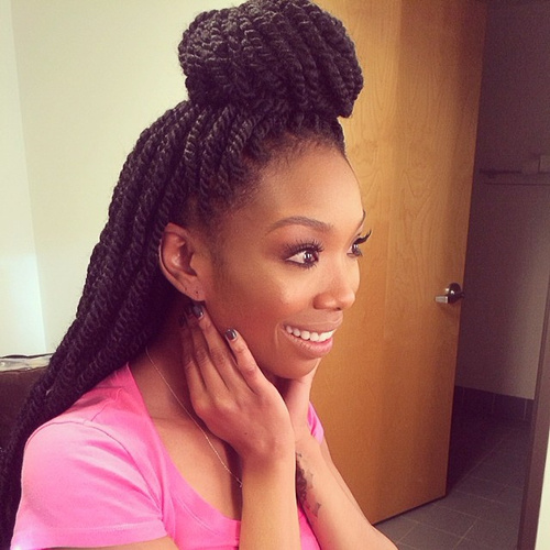 Awesome 51 Kinky Twist Braids Hairstyles With Pictures  Beautified Designs