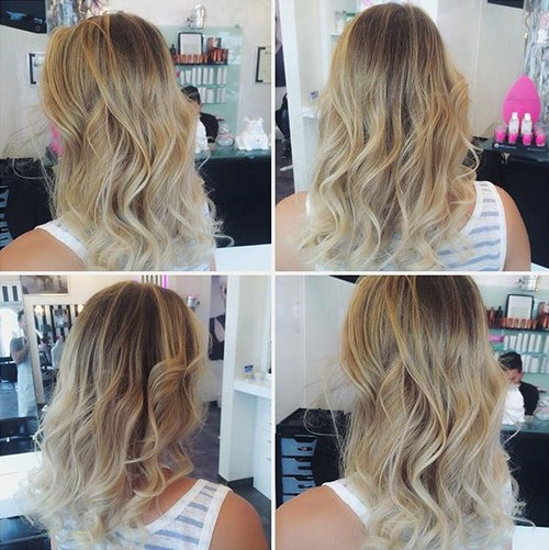 medium brown blonde hairstyle for fine hair