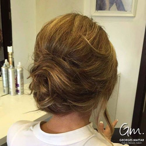 Loose Chignon For Shorter Hair