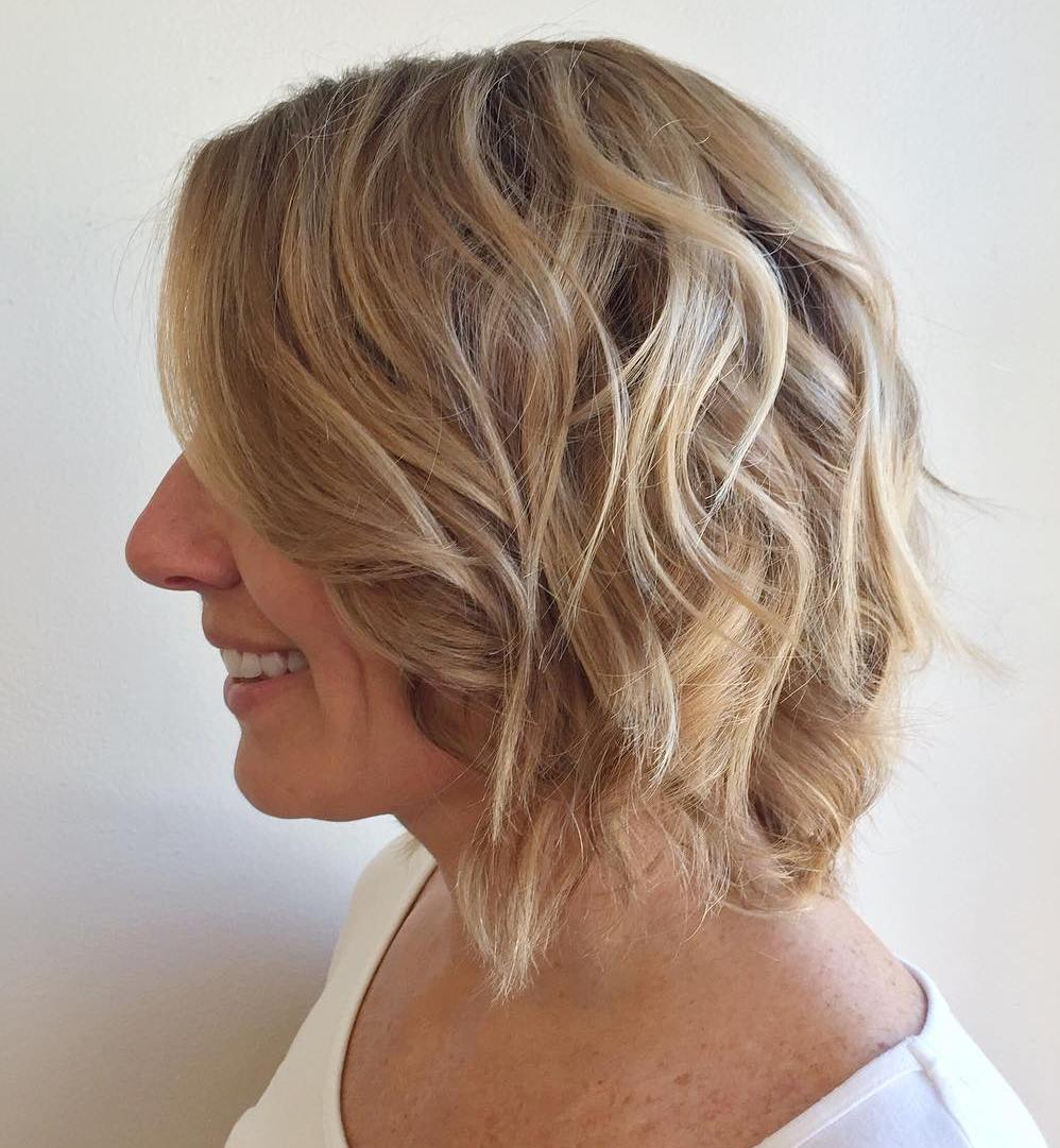 Curly Bob For Mature Women
