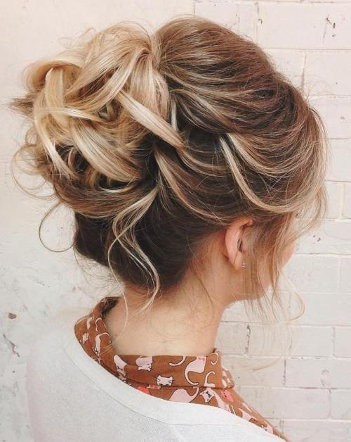 Curly Bun For Shorter Hair