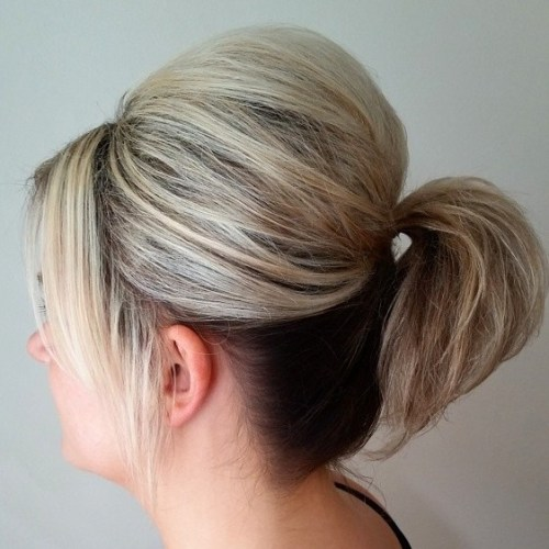 Ponytail With A Bouffant For Short Hair