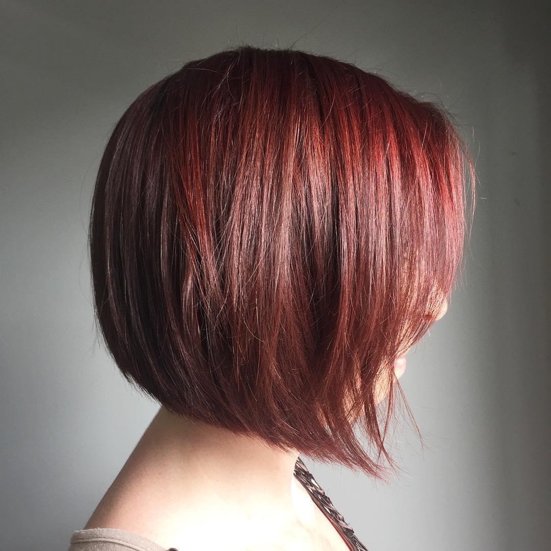 Red Angled Bob