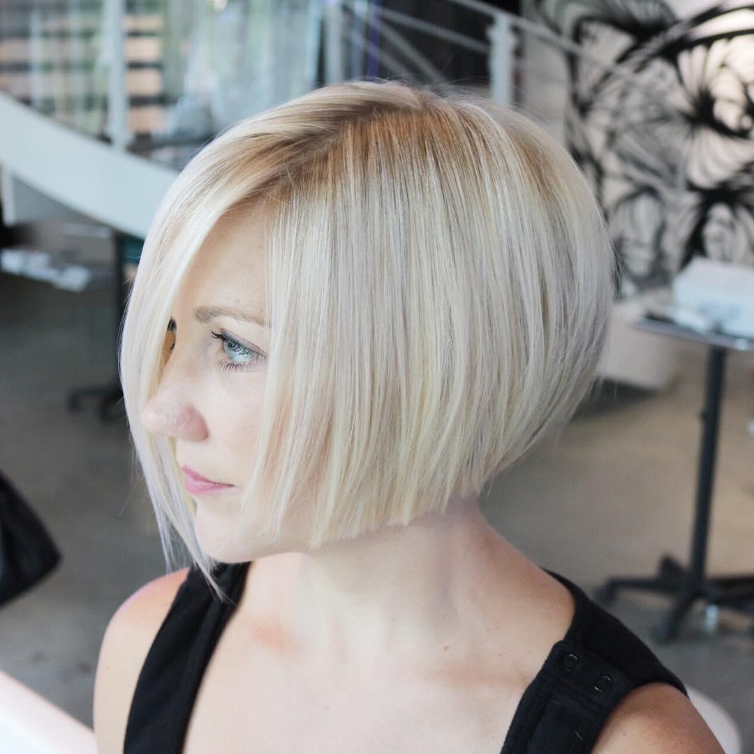 Blonde Chin-Length Bob