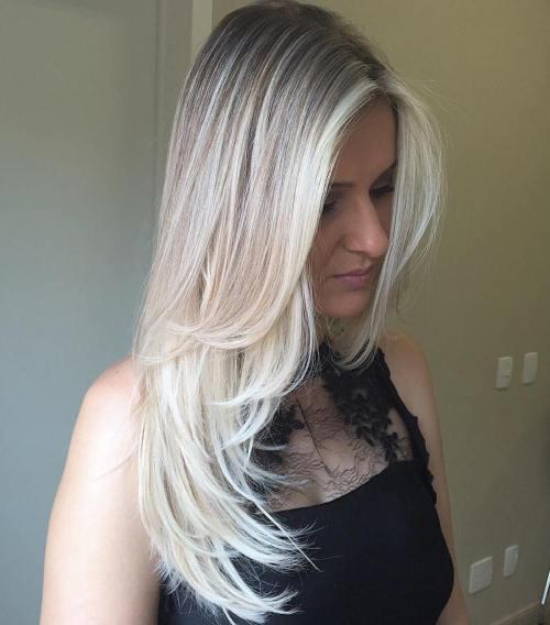 Long Ash Blonde Hairstyle