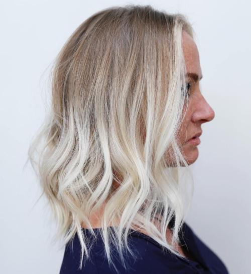 Blonde Balayage Lob