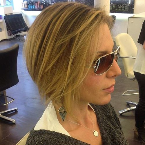 chopped bob haircut for thin hair