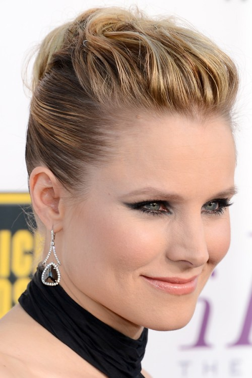 Kristen Bell updo for fine hair