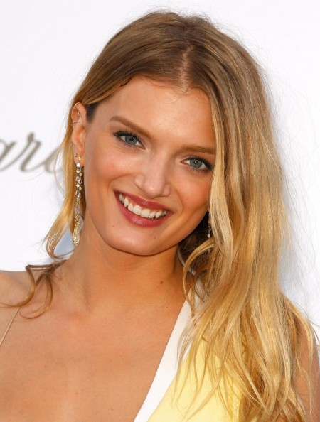 Lily Donaldson blonde ombre hair