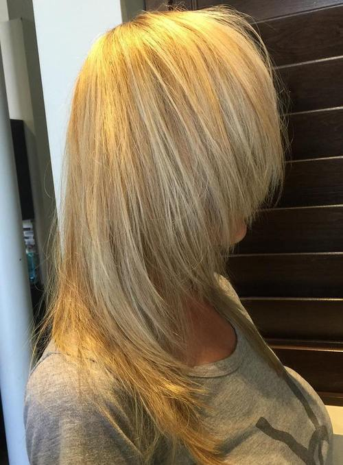 blonde chopped haircut