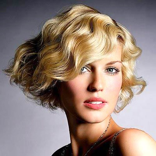 short bob for thick curly hair