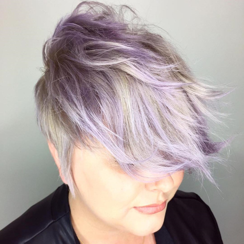 Long Blonde And Purple Pixie