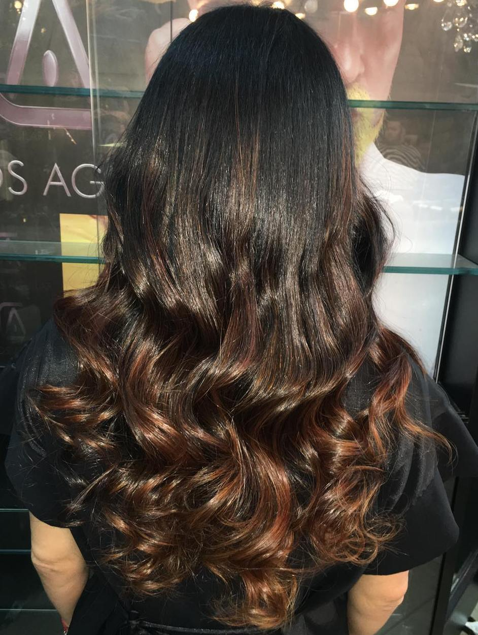 Ombre Hair Color Back View