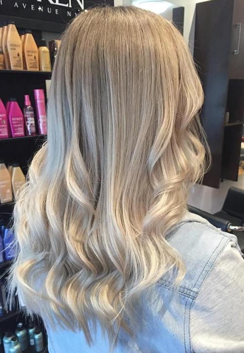 light blonde ombre hair
