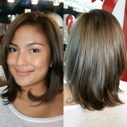 Shoulder-Grazing Haircut With Layered Ends
